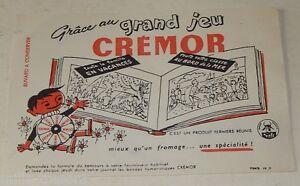 BUVARD grand jeu CREMOR - C'est un Produit FERMIERS REUNIS SAFR