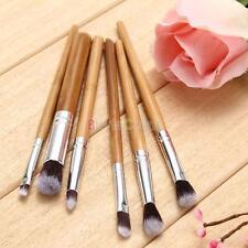 6pcs Bambù Professional Eyeshadow Trucco Cosmetici Tool Eye Kabuki Brush Set Kit