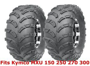 (2) 22x10-10 Kymco MXU 150 250 270 300 Sport ATV Rear Tires Set Mud 6PR