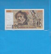 100 Francs DELACROIX  de 1978 Alphabet F.2  ( SANS HACHURES dans CENT FRANCS )