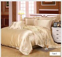 Queen Natural Bedding Deluxe Comfort  4 Piece Bed Sheet Set 220*240cm