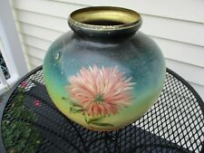 Painted brass large planter. Vintage