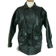 Forastero Men Leather Coat Size Large (G) Forest Green Cowhide Heavy