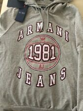 New Armani Jeans Logo Graphic Men's Sweatshirt Hoodie Size M,,L
