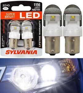 Sylvania ZEVO LED Light 1156 White 6000K Two Bulbs Rear Turn Signal Replace OE