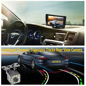 Car Reverse Monitor 5in TFT HD Digital LCD With 12LED Dynamic Track Rear Camera