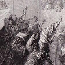 Gravure XIXe États Généraux de Tours en 1506 Louis XII