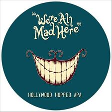 ADESIVO STICKER CHESHIRE BREWHOUSE WE'RE ALL MAD HERE