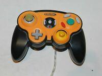 Orange Black Intec Nintendo Gamecube System Console Controller - Tested
