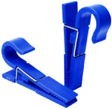 """Boat Marine Universal Poly Clips Fits Over 7/8"""" Rail 2 Per Pack Blue"""