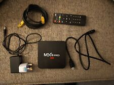 MXQ Pro 4K Tv Box Plus Remote, Ethernet cable and HDMI CABLE.