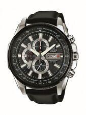 Casio Edifice Herrenuhr Uhr Chronograph Datum Leder 10 BAR EFR-549L-1AVUEF