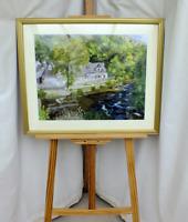 "Framed painting ""Fingle Bridge Inn"" Drewsteignton, Devon - acrylic on board"