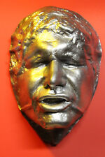 "Han Solo 1:1 Life Mask in Carbonite  "" The Empire Strikes Back """