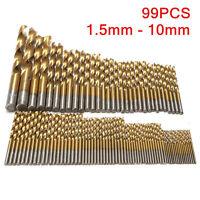 99 tlg Titan HSS Spiralbohrer Satz/Set 1.5-10mm Werkzeug Set Metallbohrer bohrer