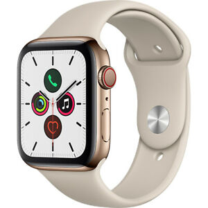NEW Apple Watch 5 44MM ROSE GOLD - STAINLESS STEEL / SPORTS - 5G CELLULAR + WIFI
