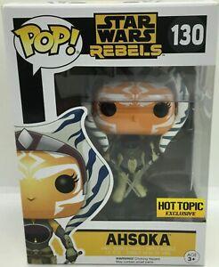 Star Wars Rebels Ahsoka Tano Pop Vinyl 130 Translucent Sabers + Pop Protector