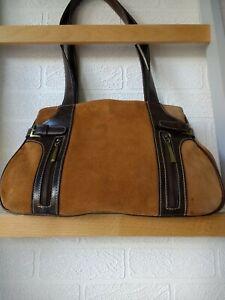 vintage tan suede shoulder bag.60s/70s.gorgeous.great VTG condition