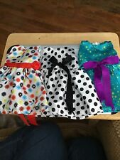 3 Handmade Party Dresses For 18in Dolls Colorful American Girl Our Generation
