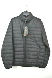 Hawke & Co Mens Hooded Packable Down Jacket Long Sleeves Front Zip Quilted $195