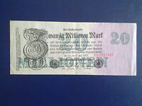GERMANY - 20 MILLION MARK  BANKNOTE 1923-INFLATION - VERY FINE