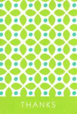 Green Geometric Shape Thank You Blank Notecards By Carlton Cards - Set of 9