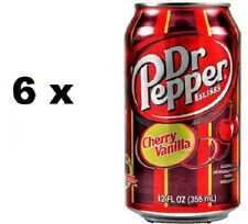 6 x USA Dr Pepper Cherry Vanilla Soda Drink in 12oz, 355 ml Can