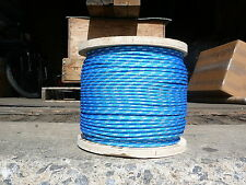 "Sailboat Rigging Rope 3/16"" x 100' Blue/White Double Braided Sheet Halyard Line"