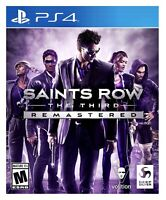 Saints Row: The Third 3rd Remastered PS4 BRAND NEW FACTORY SEALED PlayStation 4