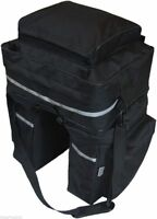 45L Cycle Bicycle Bag Bike Double Side Panniers Rear Rack Tail Seat Trunk Bag UK