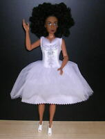 The Fresh Dolls Mia Doll REDRESSED in White & Silver Cocktail Dress OOAK