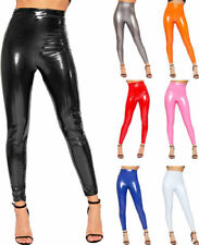 Full Length Polyester Wet Look Leggings for Women