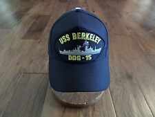 Uss Berkeley Ddg-15 Navy Ship Hat U.S Military Official Ball Cap U.S.A Made