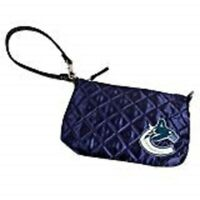 NHL Vancouver Canucks Quilted Wristlet, Navy