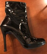 Stuart Weitzman Patent Leather Ankle Boots 7.5M Sexy