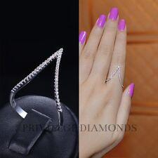 Zirconia Cz Trendy Luxury Celebrity Designer Fashion V Shape Gold Ring Cubic