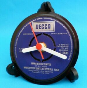 *new* Vinyl Record FOOTBALL CLUB  (Choice) DESK CLOCK on Stand Original Single
