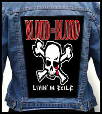 BLOOD FOR BLOOD - Livin In Exile --- Giant Backpatch Back Patch