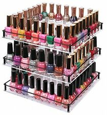 JackCubeDesign 3 Tier Acrylic Nail Polish 360 Rotating Display Rack Organizer