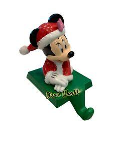 Disney Minnie Mouse Vintage Stocking Holder Hanger for Santa Christmas Gifts