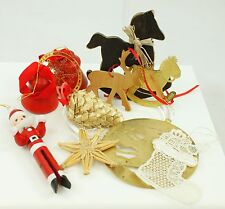 Vintage Red & Gold Themed Christmas Ornament Holiday Tree Decoration Lot