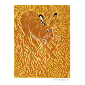 Stubble Hare by Robert Gillmor Blank Greeting Card with Envelope