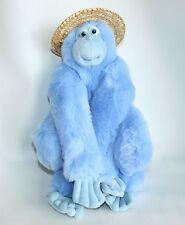 "Blue Plush Stuffed Animal Monkey Ape Gorilla Applause 15"" Jennifer Mazur Vintage"