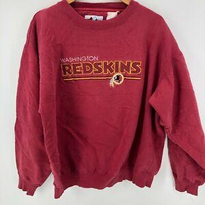 Majestic Sweatshirt Men's XL Red Washington Redskins Embroidered Logo Vtg 1990's