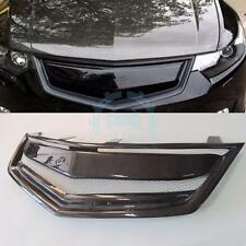 For Honda Acura Accord Cu1 Cu2 Tsx 2009-10 Front Bumper Mesh Grille Carbon Fiber