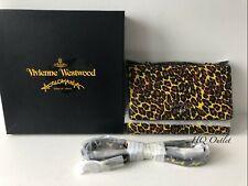 Vivienne Westwood Leopard Print iPhone Wallet/Clutch Bag/Shoulder Strap