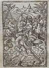 1541 Regnault Bible - Fine woodcut leaf - CROWDS FOLLOW JESUS