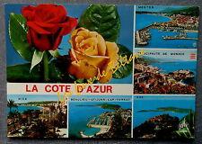 EZE MENTON MONACO NICE BEAULIEU ST JEAN CAP FERRAT  MULTIVUES  postcard