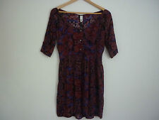 """WOMEN'S """"LEE"""" 1/2 SLEEVE FLORAL PRINTED CUT OUT DRESS - SIZE 6 - NWT"""