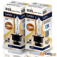 2 x D2S Genuine LUNEX XENON BULB  4300K REPLACEMENT FOR PHILIPS , GE OR OSRAM